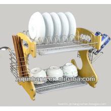 Rack de cozinha de cozinha doméstica / cremalheira de prato de arame de ferro