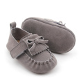 Unisex Leather Baby Moccasins Slip pada kasut Toddler