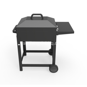 Trolley Charcoal BBQ med sidopanna