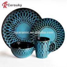 China fabricante restaurante do hotel personalizado vários dinnerware cerâmica set