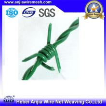 Fil de sécurité en fil de fer barbelé galvanisé en PVC