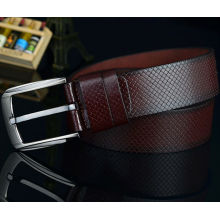 Texture leisure brown leather belt pu belt men 2014