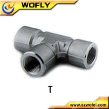 China Stainless Steel Female Tee Tube Fittings Interchangeable with Swagelok Tube fittings