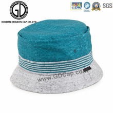 Casual Customized Simple Green and Gray Fishing Bucket Hat