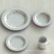 Decal Printed Porcelain Dinner Plate / Ceramic Food Plates