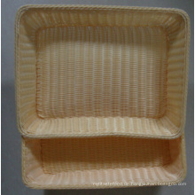 Handgefertigte Fake Rattan Wicker Kunststoff Brot Korb; Aufbewahrungskorb