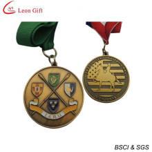 Medalha prêmio ouro personalizado para lembrança (LM1264)