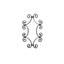 ODM for Black Coated Wrought Iron Fence Wrought Iron Scrolls supply to India Manufacturers