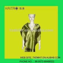 Châle à volaille en soie à la mode verte pour les femmes à la mode