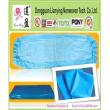 Cubierta médica de la hoja de cama con elástico