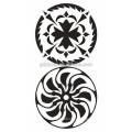 Etiqueta de tatuagem tribal temporária com impressão de transferência de água