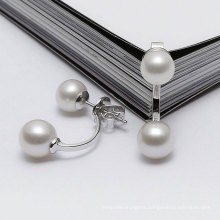 Double Round Nature Freshwater Pearl Earrings