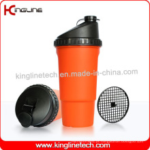Garrafa protetora de proteína plastificada de 600ml com filtro (KL-7016)