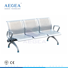 Sala de espera del hospital de la placa de acero del balanceo frío AG-TWC004 usada silla del metal de tres seater