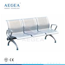 АГ-TWC004 холодной прокатки стальной пластины комнате ожидания больницы, три стул seater металла