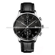 Multifunction Watch for Businessman, Made of Stainless Steel Case and BandNew