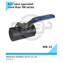 Válvula de bola de fundición de inversión A216 Wcb Dn32 Pn25 China