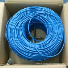 Utp cat 6 4pr 23awg cable, cat6e prix du câble avec rj45 cat6 keystone jack