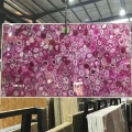 pink agate stone slab for background