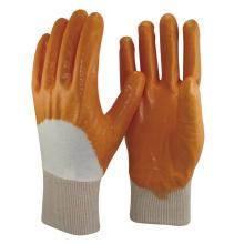 NMSAFETY 100% algodão Industril Heavy Duty Nitrile Luva Revestida