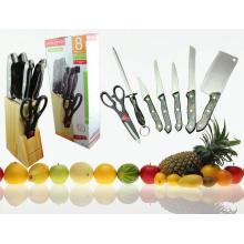 Ensemble de couteau de cuisine en plastique coloré 7PCS (SE-3570)