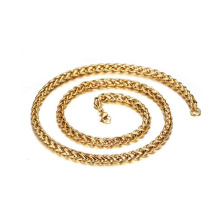 Edelstahl Material Großhandel 24K Gold Filled Twisted Halskette Kette Verkauf von Meter, Gold Choker Halskette