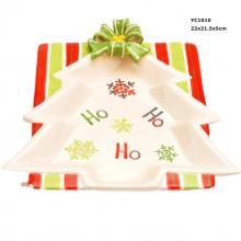 Pratos de doces de cerâmica para o Natal