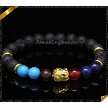 Venta al por mayor vendedora caliente de la joyería de las pulseras de la manera de los granos de la lava (CB098)