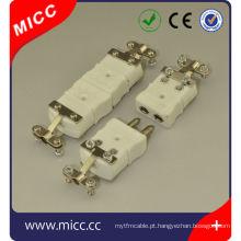 K tipo de conectores de cerâmica com braçadeira / tipo de cerâmica k termopar conectores macho e fêmea