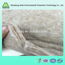 Excelente calidad no tejida con aguja de fibra Ramie Fieltro / fibra de ramie guata