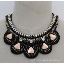 Damenmode Charm Crystal Chunky Choker Halskette (JE0131)
