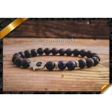 Alta calidad Hamsa encantos pulseras, pulseras de plata de la manera de la joyería (CB048)