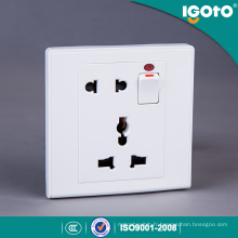 Igoto UK Standard 1gang Interrupteur + 2pin & 3pin Mf Socket pour la maison