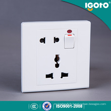 Igoto UK Standard 1gang Switch+2pin & 3pin Mf Socket for Home