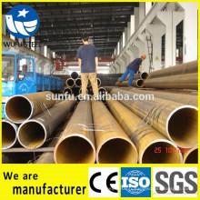 Alimentation en usine ISO 14001 noir soudé Q345B prix du tuyau en acier