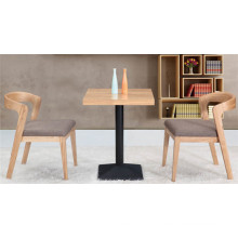 Contemporary Bistro Restaurant Solid Wood Table Set (FOH-BCA21)