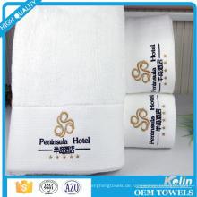 Benutzerdefinierte 30 * 30 35 * 75 70 * 140 100% Baumwolle weiß Hotel Handtuch-Set