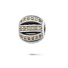 925 Серебряные бусины Европейские браслеты Бусины CZ Jewelry