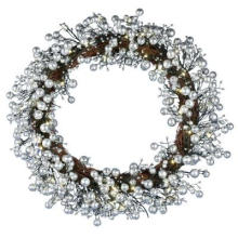 24 polegadas. Golden Starlite Creations Wreath with Batteris Operando 48 LEDs (MY255.259.00)