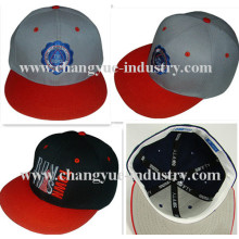 Flat embroidery custom design flex fit fitted cap hat