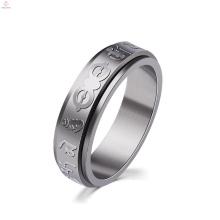 Edelstahl Silber Custom Gravierte Mantra Ring