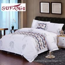 fashion design luxury High Quality Hotel Bedding Linen Supplier 100 cotton print bedding sets 60s 300TC