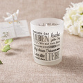 Wholesale Scented Soy Frosted Glass Candle for Decoration