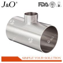 T de reducción de soldadura de acero inoxidable sanitario