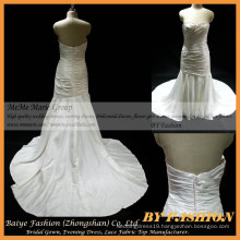 Sexy mermaid wedding gowns White Bridal Gown Applique Sweetheart Satin Material Plus Size Wedding Gowns Mermaid BYB-14574