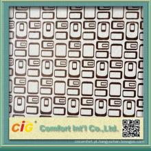 Novo design de tecido de camurça simples e estampado micro para capa de sofá