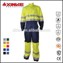 Feuerfeste Schutzkleidung aus Baumwolle und Nylon für Industriearbeiter