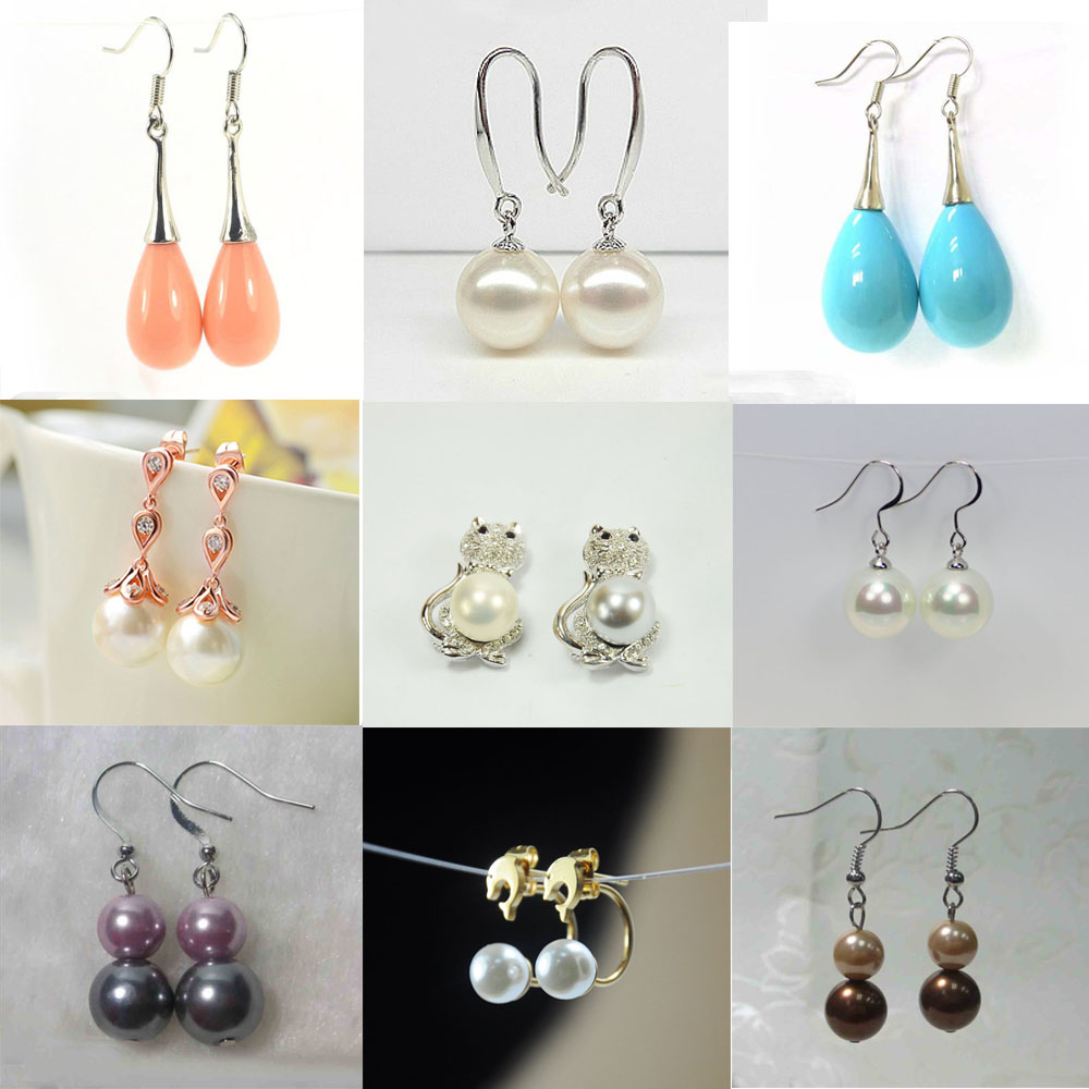 Imitation Double Pearls Dangle Earrings