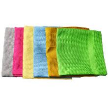 Serviette en tissu éponge gaufré torchon en microfibre