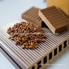 Wood plastic composite pellet for extrusion decking